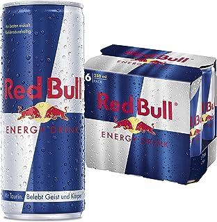 Red Bull Energy Drink, 6er Pack, Einweg 6 x 250ml Dosen