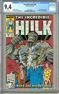 Incredible Hulk #346 (1988) CGC 9.4 White Pages 0285220005
