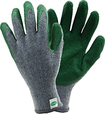 West Chester Scotts SC30501 Stretch Knit Gardening Gloves with Latex Coated Palm: Grey/Green, Large, 3 Pairs