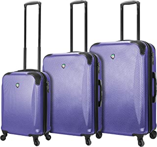 Mia Toro Italy Gaeta Hard Side Spinner Luggage 3 Piece Set, Blue, One Size