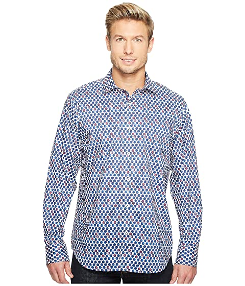 bugatchi long sleeve classic fit point collar shirt