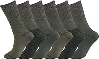 Men's 6 Pairs Military Combat Army Boot Hiking Thermal Warm Chunky Thick Socks Size 6-11