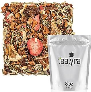 Tealyra - Lovely Lemongrass - Strawberry - Orange - Fruity Herbal Loose Leaf Tea - Hot and Iced Drink - Vit...