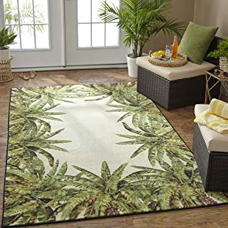 Best green tropical area rugs Reviews