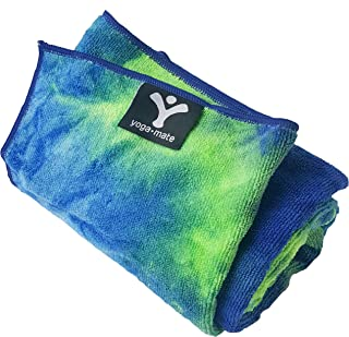 The Perfect Yoga Towel - Super Soft, Sweat Absorbent, Non-Slip Bikram Hot Yoga Towels   Perfect Size for Mat - Ideal for Hot Yoga & Pilates!