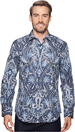 BUGATCHI - Shaped Fit Paisley Woven Shirt
