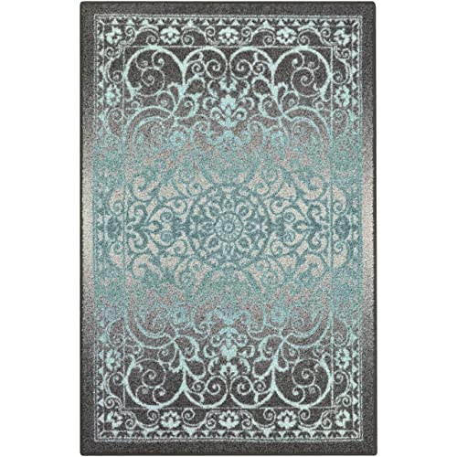 Teal And Gray Rug Amazon
