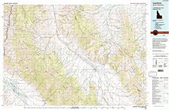 YellowMaps Leadore ID topo map, 1:100000 Scale, 30 X 60 Minute, Historical, 1980, Updated 1996, 24.1 x 37.6 in