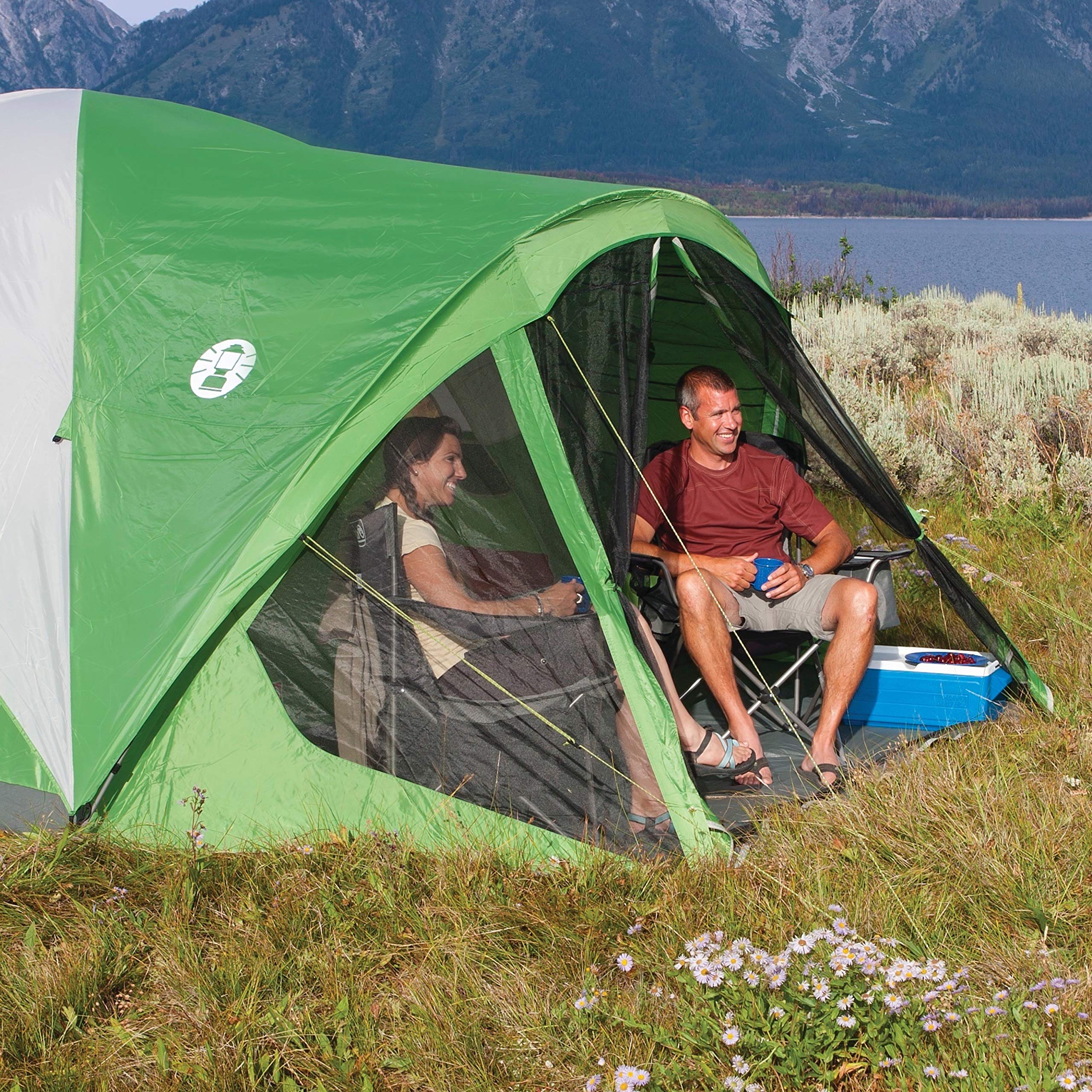 Coleman Dome Tent with Screen Room   Evanston Camping Tent with Screened-In Porch