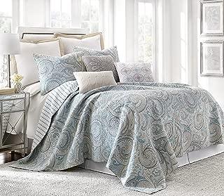 Levtex Spruce Spa King Cotton Quilt Set, Blue