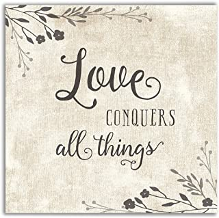 WEXFORD HOME Love Conquers Gallery Wrapped Canvas Wall Art, 16x16,