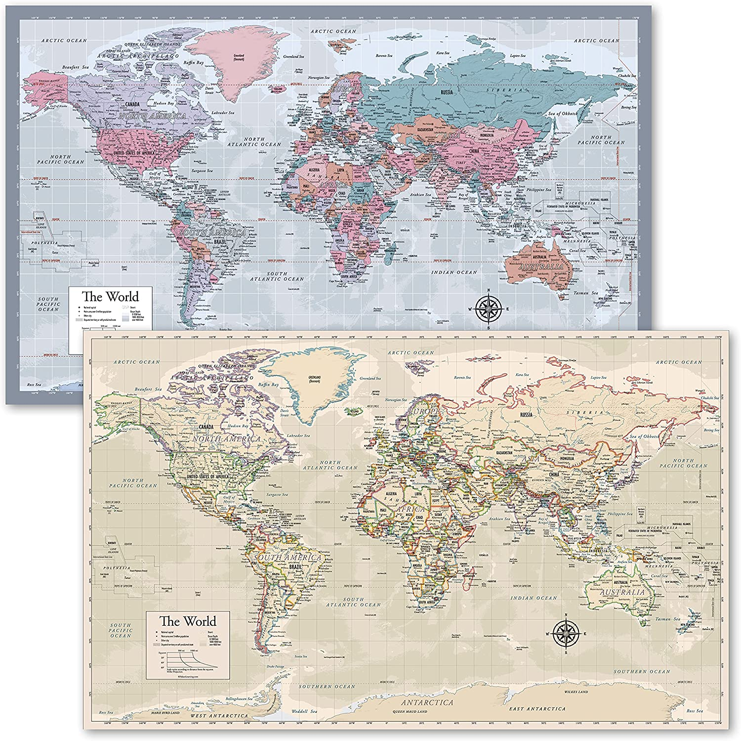 World Map Purple Antique Style Reservation - Set of Direct stock discount Posters 2