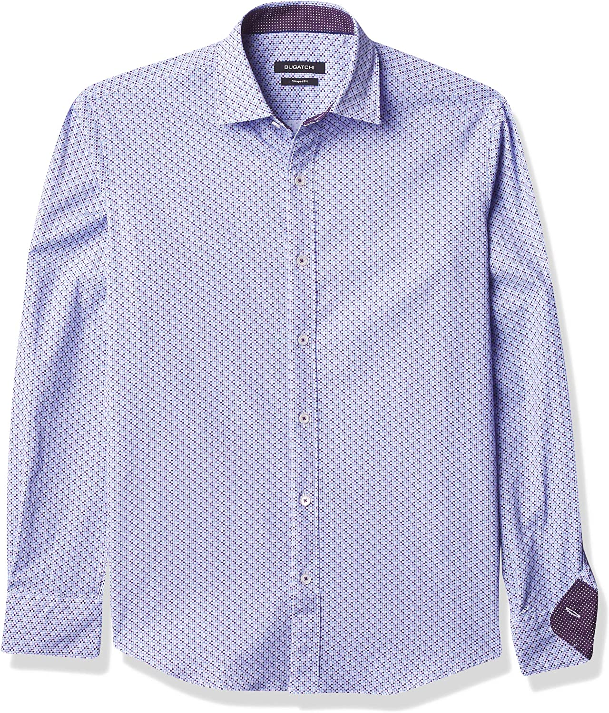 Bugatchi Men's Shaped Performance Shirt