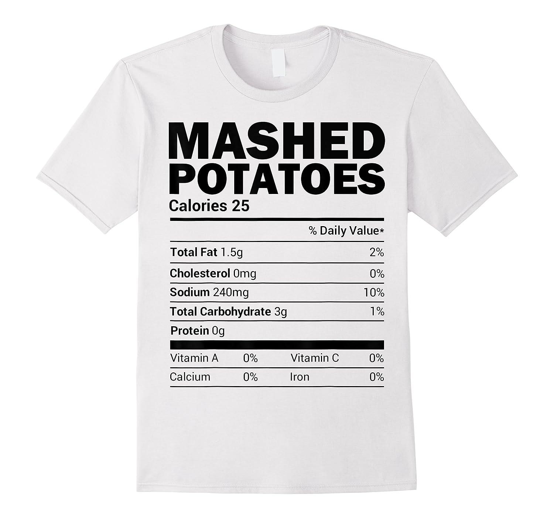 Mashed Potato Nutrition Funny Matching Christmas Costume Shirts