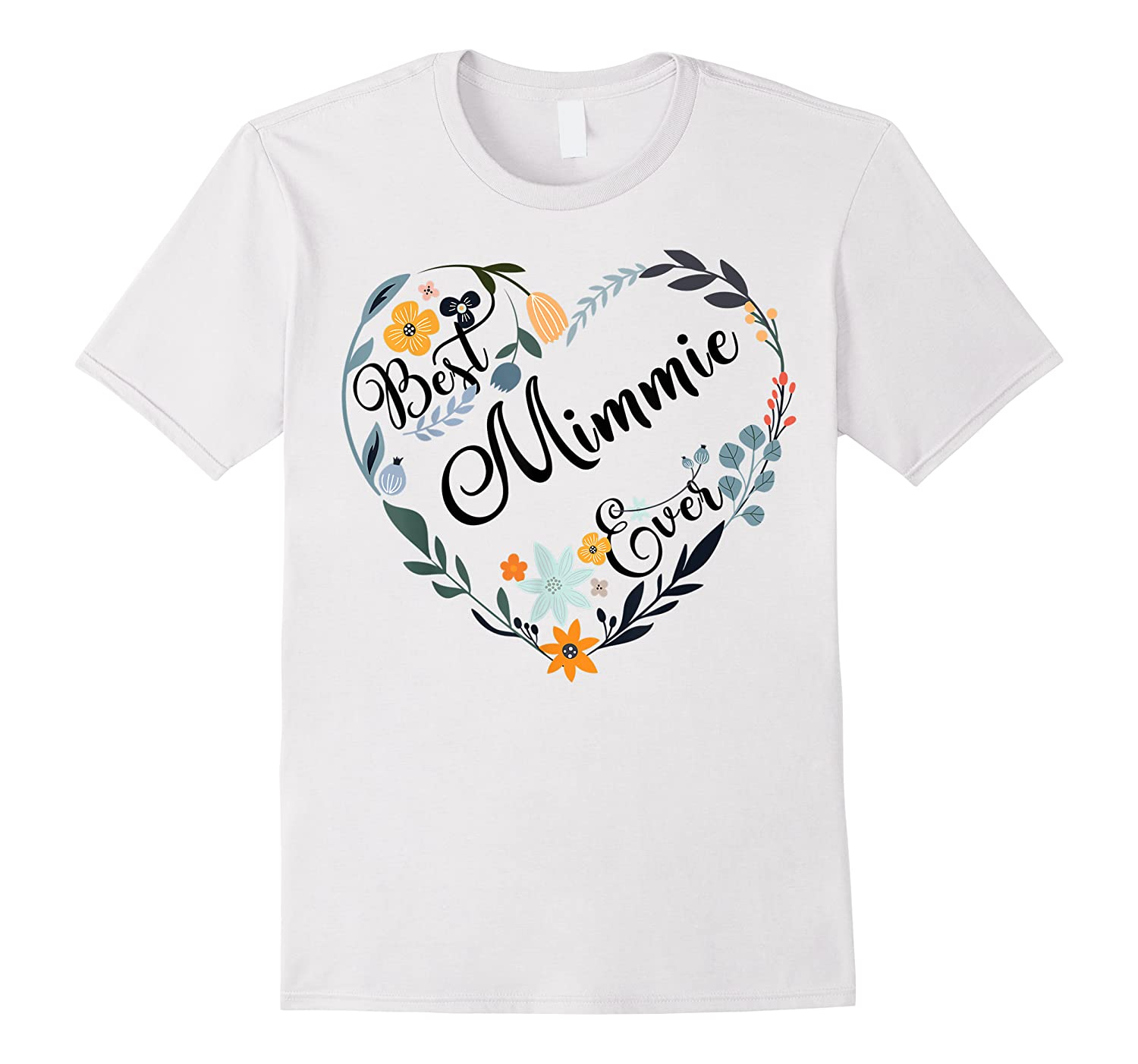 Best Mimmie Ever Heart Flower Blessed Grandma Mother's Day Shirts