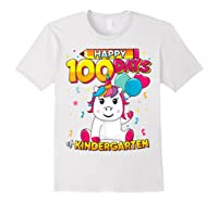 Unicorn Happy 100 Days School Kindergarten Girls Gift Shirts White