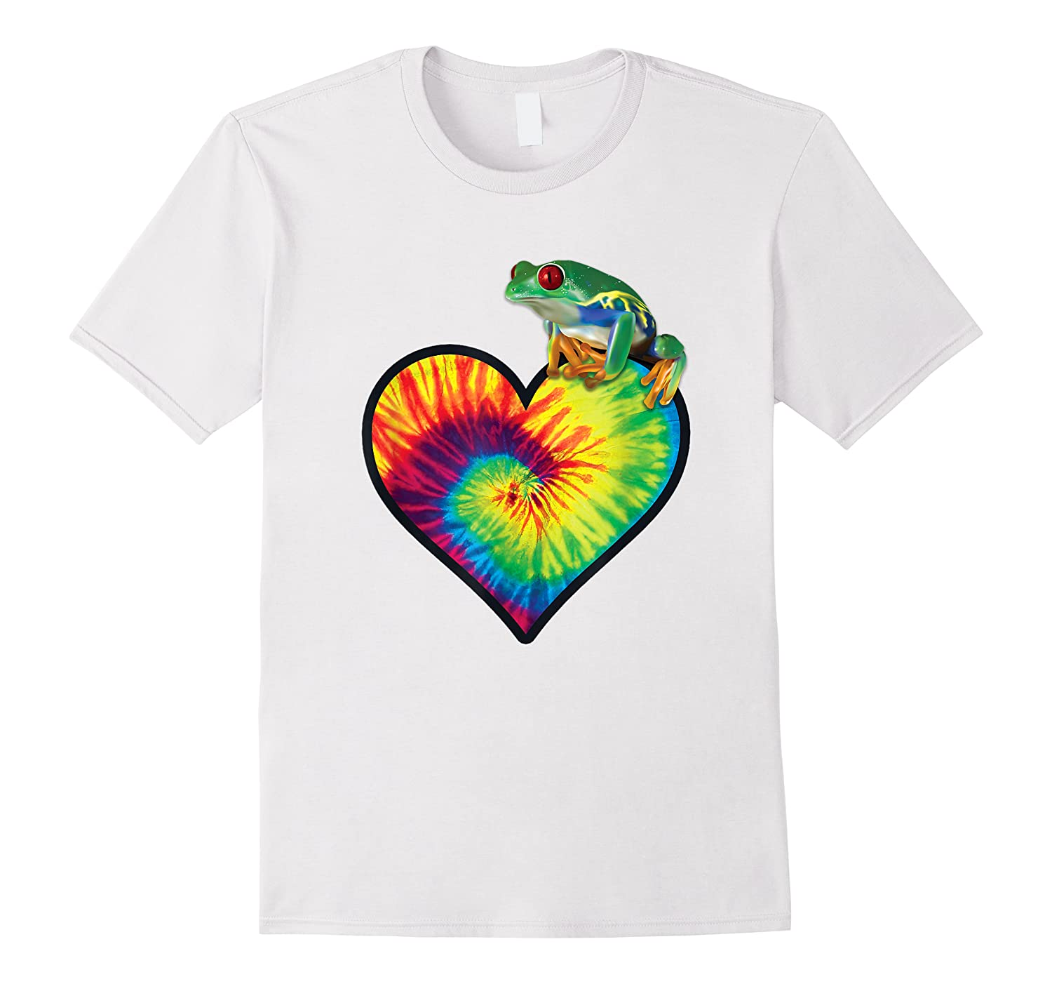 Tie-dye Heart Love Tree Frog Cute Funny Colorful T-shirt