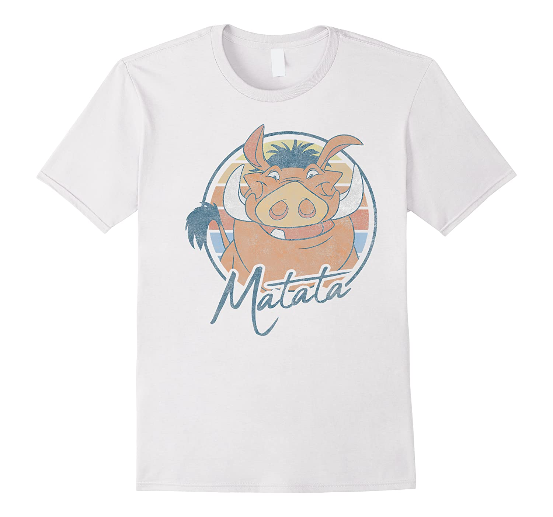 The Lion King Pumbaa Matata Text Portrait Shirts
