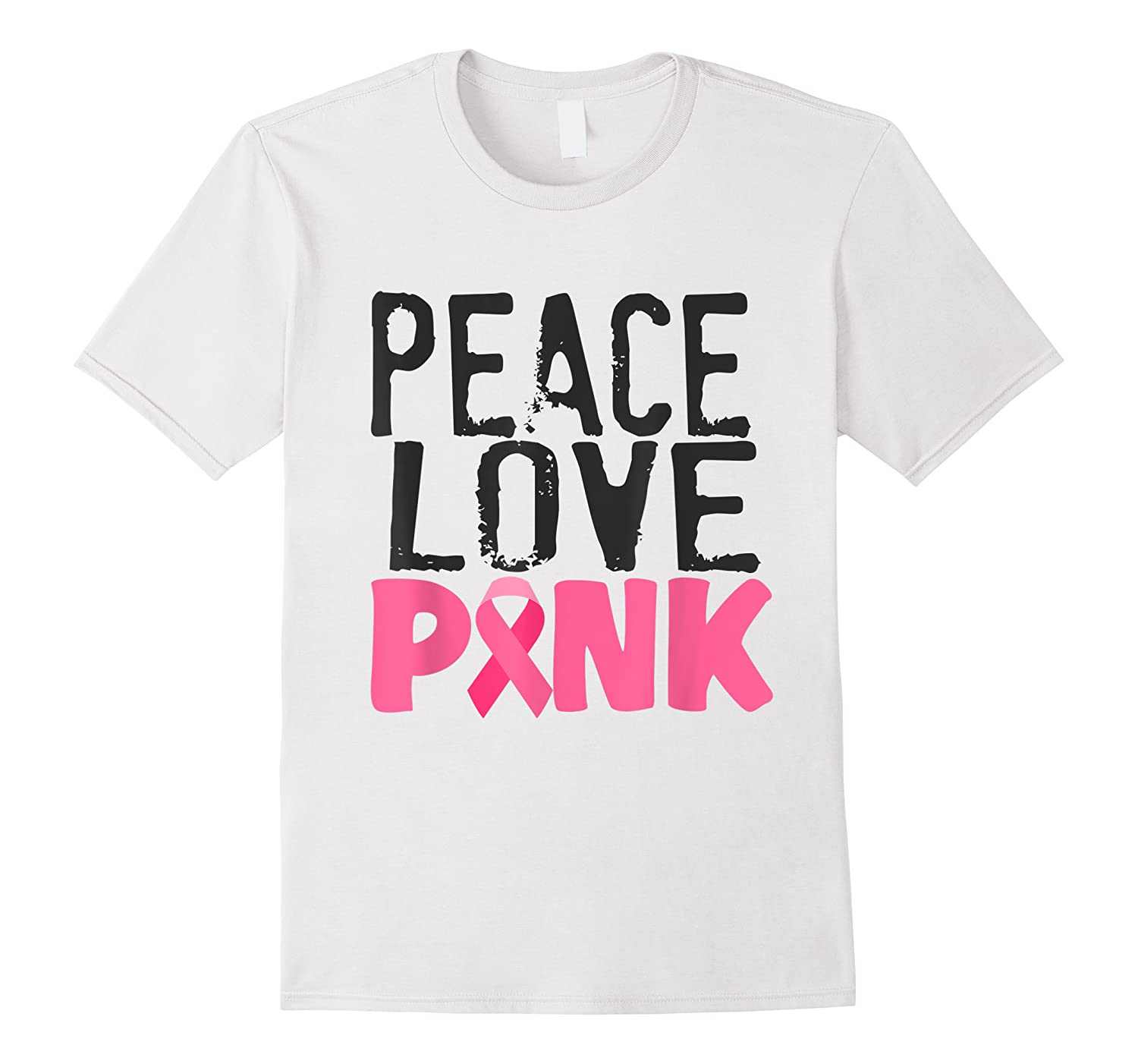 Peace Love Pink Breast Cancer Awareness Month Shirt Gift