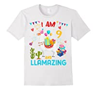 I Am 9 Years Old Zing Cute 9th Birthday Gift T-shirt White