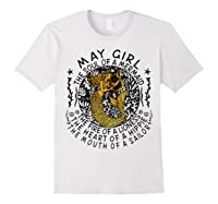 May Girl The Soul Of A Mermaid Tshirt Funny Gifts Wome T Shirt White