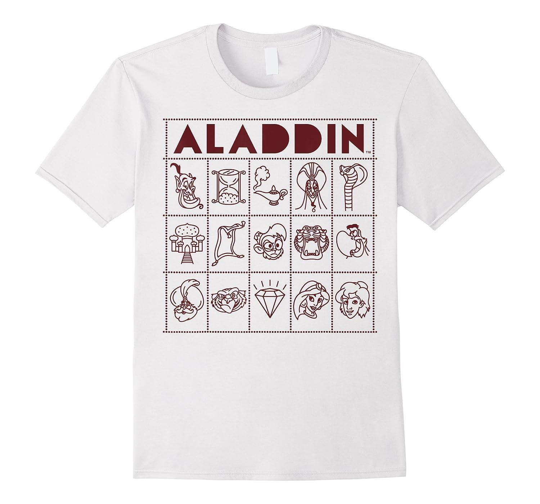 Aladdin Character Bingo Card Shirts