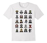 Friends Cartoon Halloween Character Scary Horror Movies T Shirt White