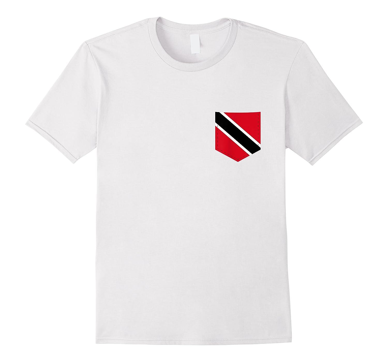 Trinidad And Tobago Flag Tee With Printed Trinidadian Pocket Shirts