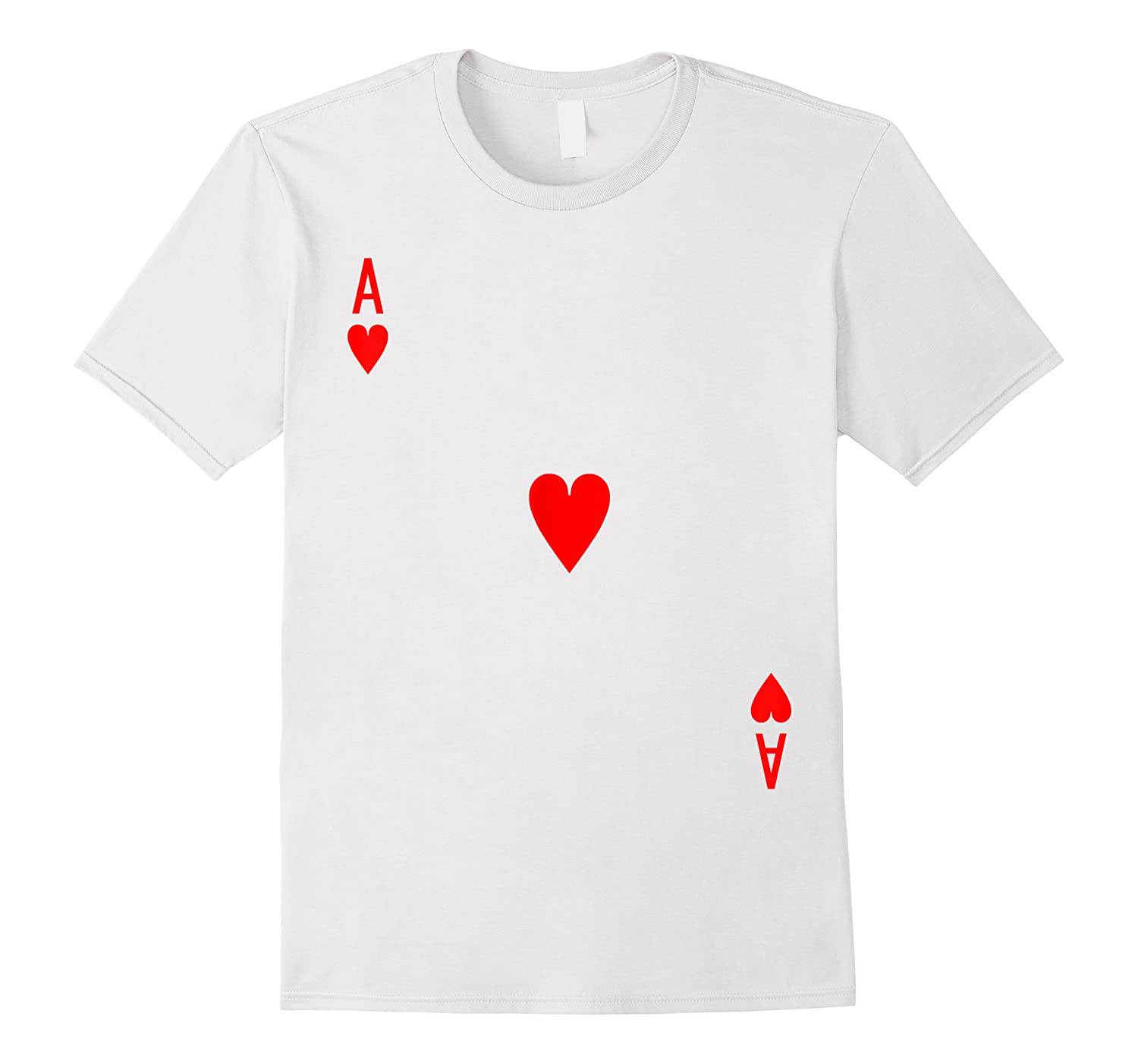 Ace Of Hearts Deck Of Cards Halloween Costume T-shirt
