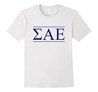 Amazon com: Sigma Alpha Epsilon Shirt Purple Letters: Clothing