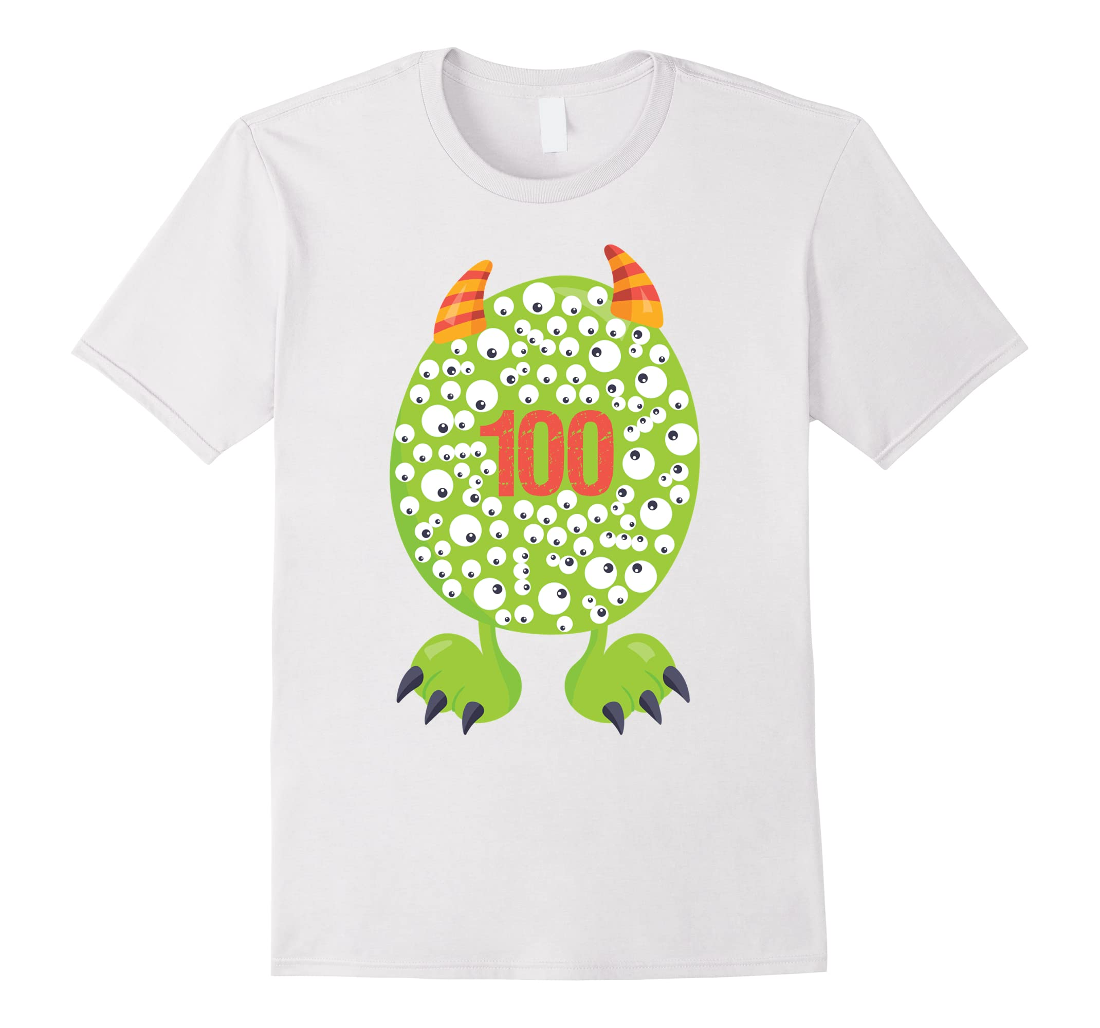 100th Day of School T Shirt Monster Happy 100 Days Kids Boy-RT