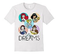 Princess Big Dreams Sparkle Character Bubbles Shirts White