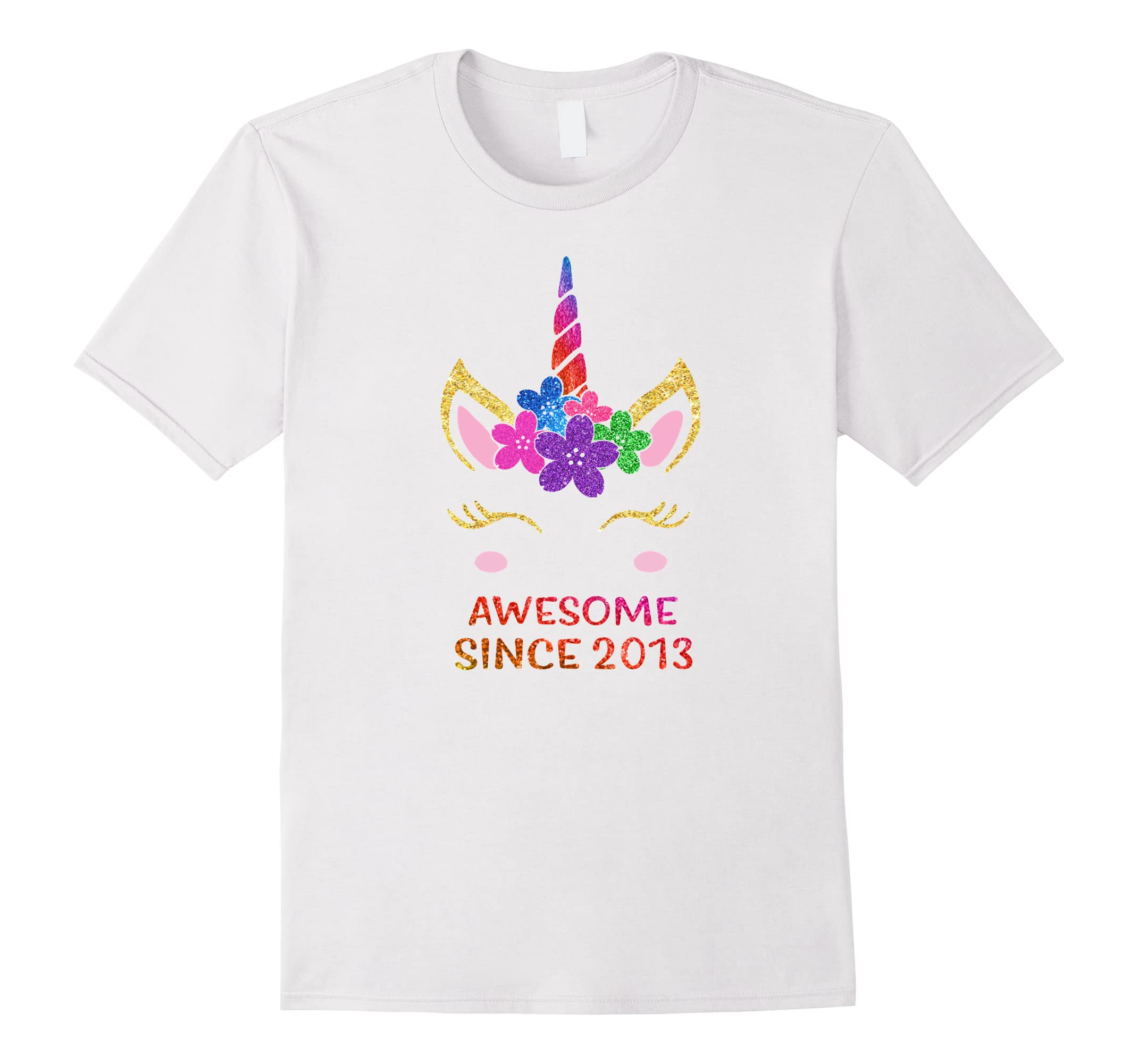 Kids 5 Yrs Old 5th Birthday Unicorn Shirt Gifts Awesome 2013 Ah My One