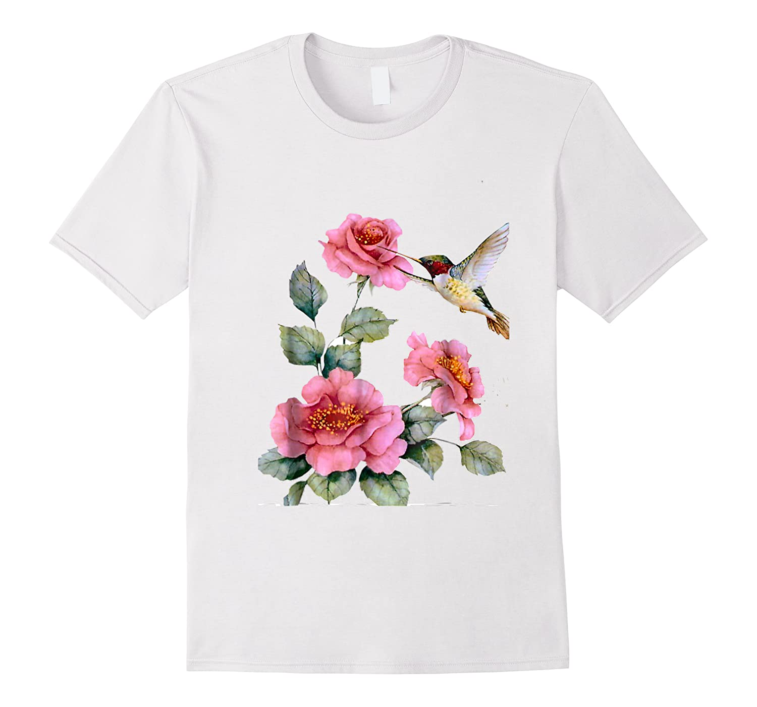 Hummingbird With Roses T For Shirts