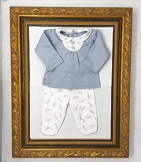 Primera Puesta Recien Nacido - Modelo Plumas - Danielstore (Blanco-gris, 1 mes)