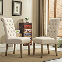 tan upholstered dining chairs