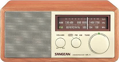 Sangean WR-11 Wood Cabinet AM/FM Table Top Analog Radio (Renewed)