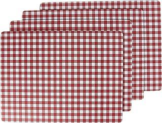 Benson Mills Calvin Gingham Cork PLACEMAT (Set of 4) RED, 12 X 16,
