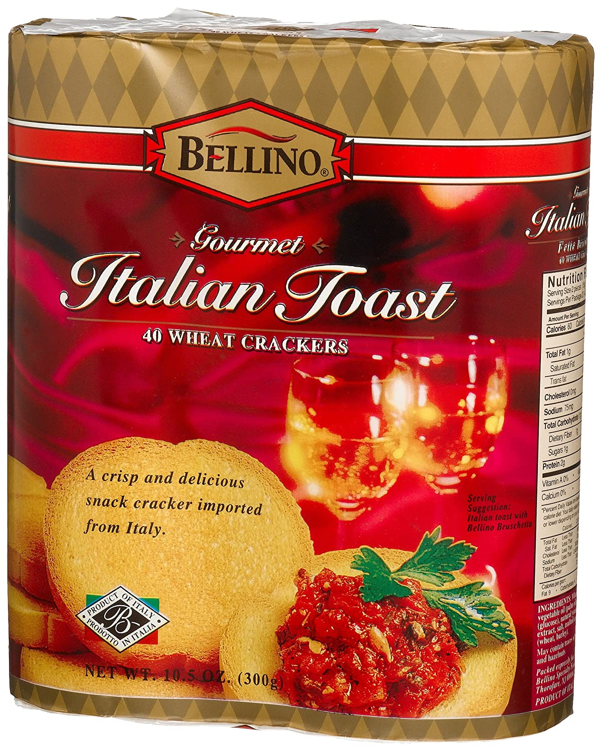 Bellino Italian Toast Animer and price revision 40-Count 10.5-Ounce Packages Pack Manufacturer OFFicial shop of 4