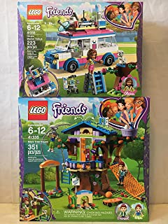 LEGO Friends Mia's Tree House & LEGO Friends Olivia's Mission Vehicle