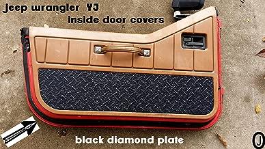 Jeep Wrangler YJ Black Rubber Coated Aluminum Diamond Plate Interior Half Door Covers