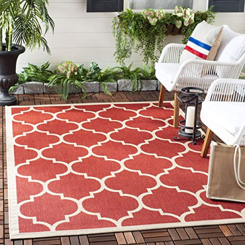 Outdoor Rug With Red Accents Amazoncom