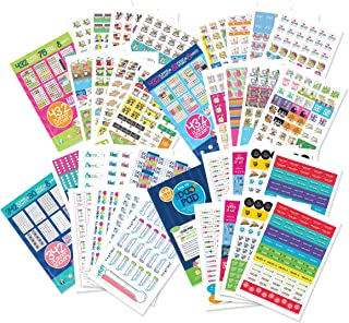 EPIC Planner Stickers Variety Bundle Set (Qty 1850) for Mom, Dad, Student, Teacher for Home, Work, Family, School, Holidays, Bills, Appointments, To-Do, Dates, Goal Tracking, Reminders for any Planner
