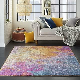 orange sunburst rug