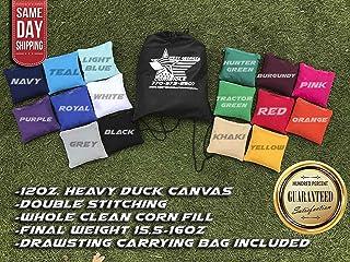 Set of 8 Premium Corn Filled Cornhole Toss Bags