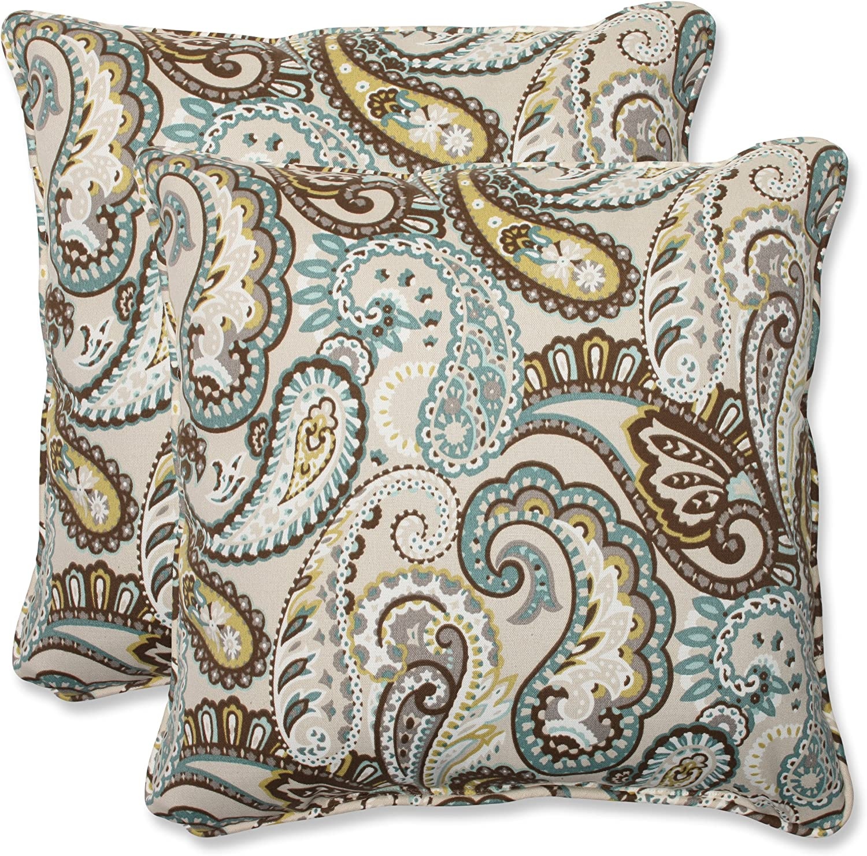 Pillow Perfect Outdoor Indoor Paisley Tamara Jacksonville Mall Genuine Quartz Throw