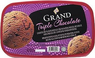 King's Grand Triple Chocolate Ice Cream, 1L - Frozen