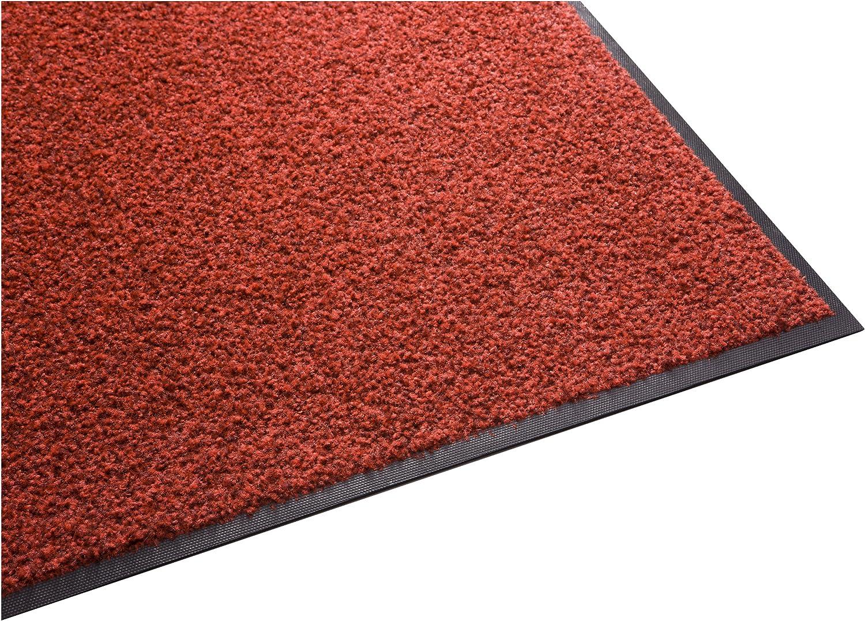 Guardian Platinum Series Indoor Wiper Floor Mat, Rubber with Nylon Carpet, 4'x11', Red