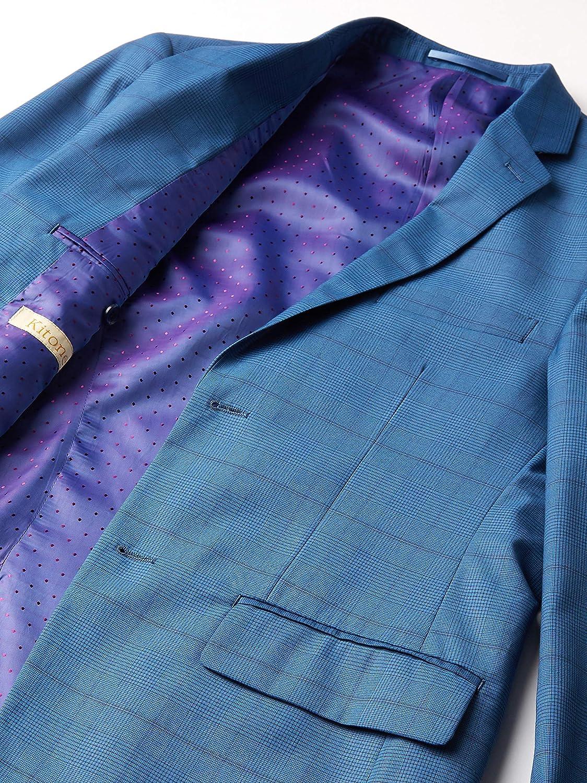 Kitonet Men's 2-Piece Wales Check Slim Fit Suit