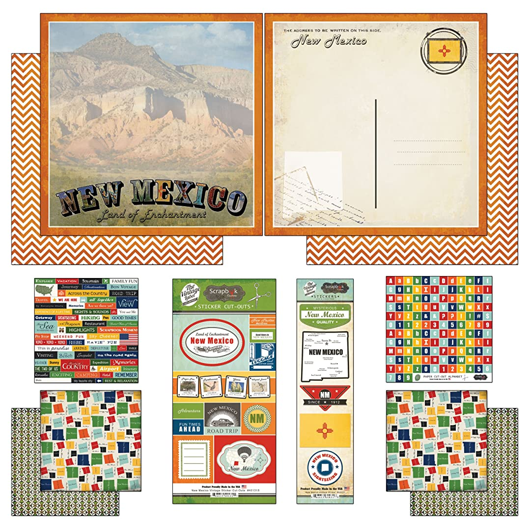 Scrapbook Customs Themed Paper and Stickers Scrapbook Kit, New Mexico Vintage